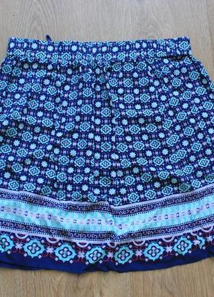 Юбка синяя с узорами befree