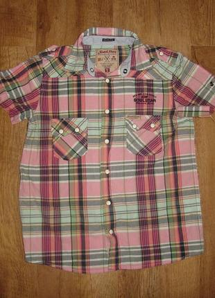 Классная рубашка на кнопках на 8 лет