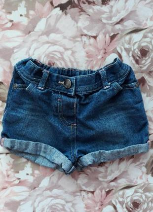 Детский джинсовые шорты на 1,5-2 года