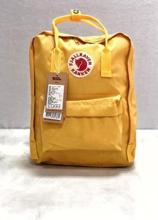 Рюкзак канкен fjallraven kanken сумка портфель желтый1
