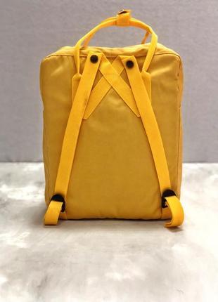 Рюкзак канкен fjallraven kanken сумка портфель желтый2