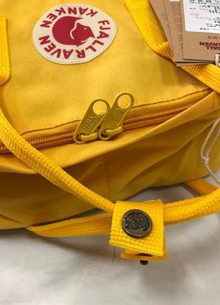Рюкзак канкен fjallraven kanken сумка портфель желтый5