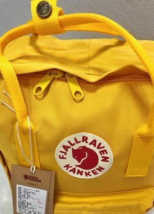 Рюкзак канкен fjallraven kanken сумка портфель желтый3