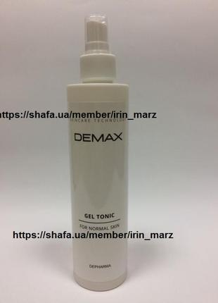 Demax увлажняющий гель - тоник для лица для всех типов с гиалуроновой кислотой 250мл