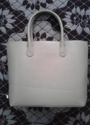 Бежевая сумка h m