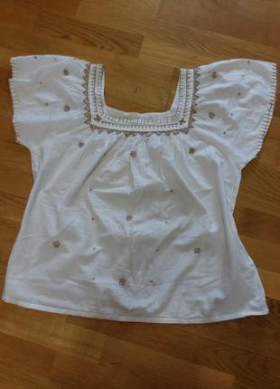 Шикарная блуза вышиванка bhs ручная вышивка 18размер