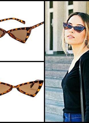 🔥must have🔥 трендовые солнцезащитные очки треугольники, оправа animals принт
