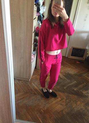 Женский спортивный костюм трикотажный двунитка лето наложенный