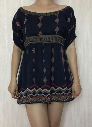 Шифоновое платье-тунийка