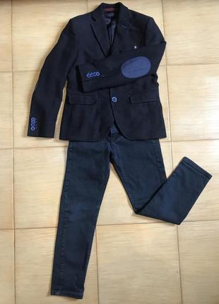 Школьный костюм, форма на 8 лет, 128 размер.