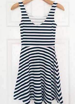 Платье в полоску h&m divided