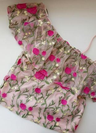 Трендовая кружевная блузка new look