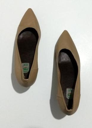 Мягенькие, кожаные, итальянские туфли лодочки pm