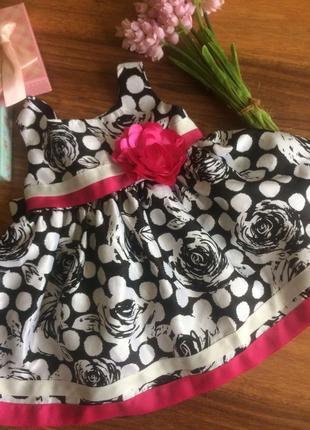 Летние стильное платье для вечеринки маленькой моднице 12 месяцев.