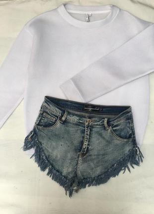 Шорты джинсовые короткие missguided