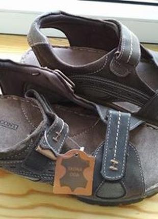 Кожаные мужские сандали (новые)