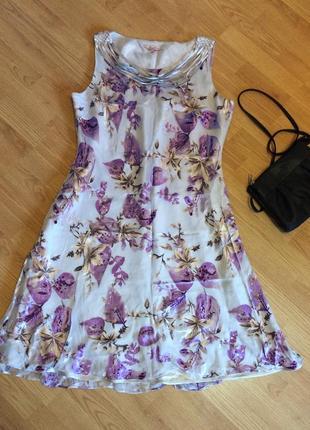 Шикарное платье 👗 (висказа,шёлк) размер 4xl