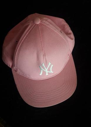 Розовая кепка/бейсболка ny