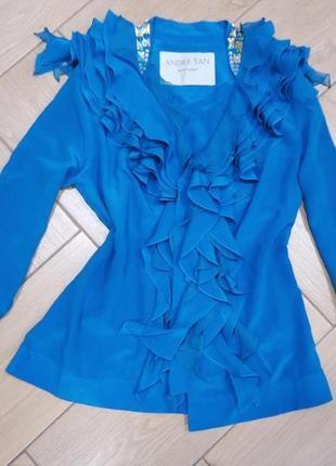 Модная дизайнерская блузка andre tan от кутюр нарядная