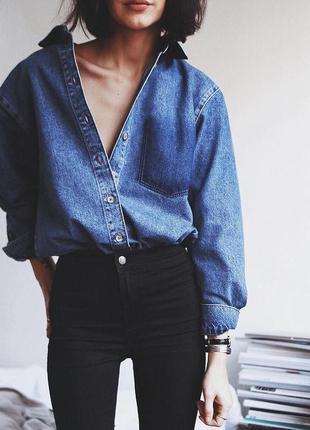🌿 черные, базовые джинсы скинии от new look высокая посадка