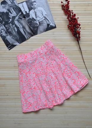 Яркая короткая юбка солнце h&m