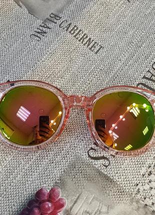 Стильные женские очки с розово-зелеными линзами , к. 2286