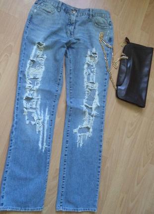 Скинни джинсы голубые,exte италия, размер 31