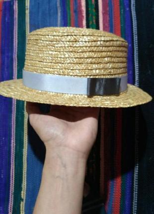 Шляпа соломенная солома шляпка канотье