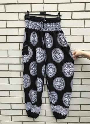 Легкие,летние,штапельные штаны, по низу резинка,этно,восточный стиль