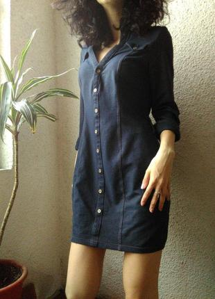 Сукня-сорочка під джинс