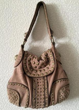 Замшевая сумка от dkny