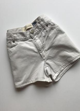Женские джинсовые шорты gap original белые высокая посадка