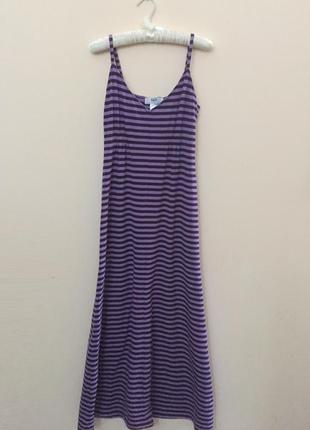 Сарафан / платье макси в пол (полосатый)