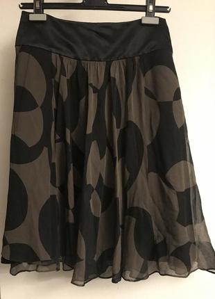 Coast пышная шелковая юбка миди