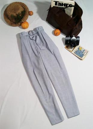 Актуальные зауженные брюки с поясом