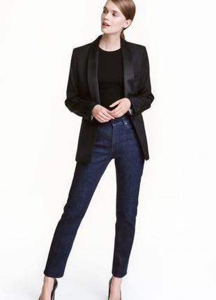 Темно-синие джинсы стрейч