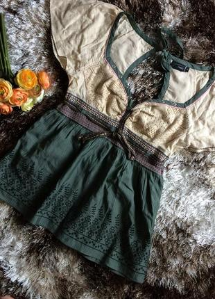 Шикарная блуза маечке этно стиль