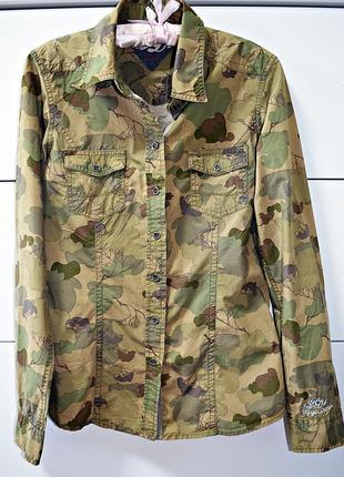 Очень крутая брендовая камуфляжная рубашка tommy hilfiger оригинал