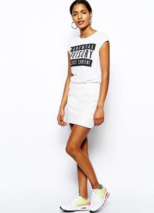 Белоснежная котоновая юбка yessica. идеальна на лето