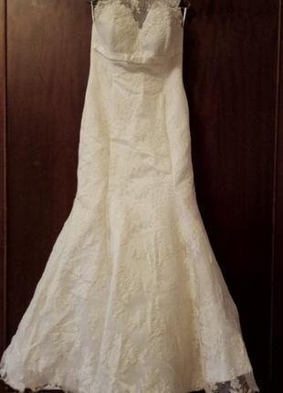 Свадебное платье русалка4 фото