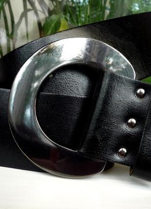 """Кожаный широкий ремень """" per una """". англия. 110 см."""