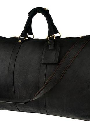 Дорожная стильная кожаная винтажная сумка в форме саквояжа ручная работа