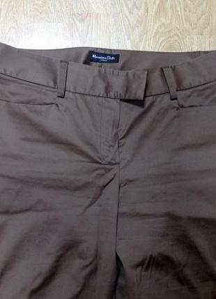 Шоколадные брюки massimo dutti