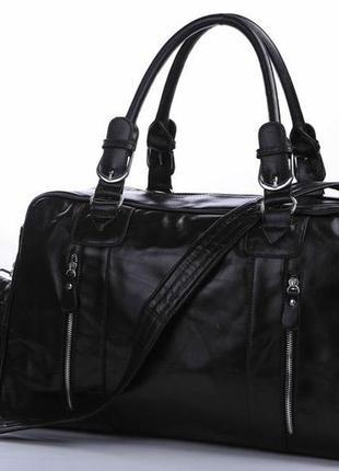 1f06fe552602 Стильная кожаная мужская дорожная спортивная casual вместительная сумка  ручная работа