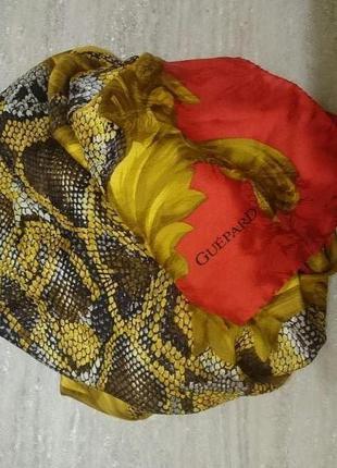Шикарный большой платок guepard100 % шелк швейцария