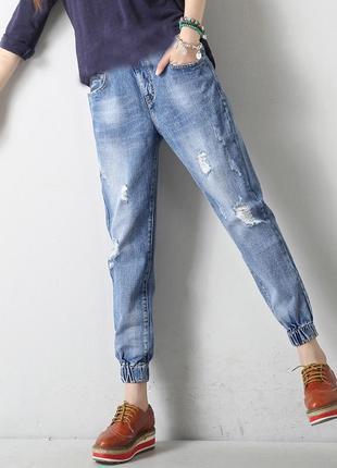 Джинсы на манжете (резинке) женские фирменные размер 31