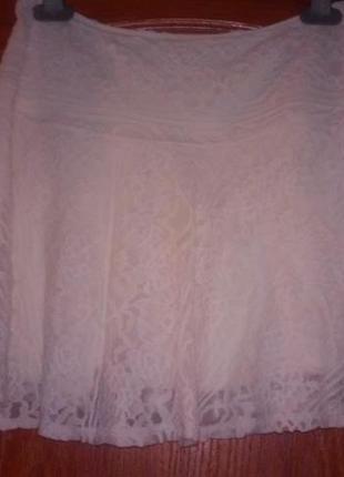 Кружевная юбка от холистер. пот 33,5