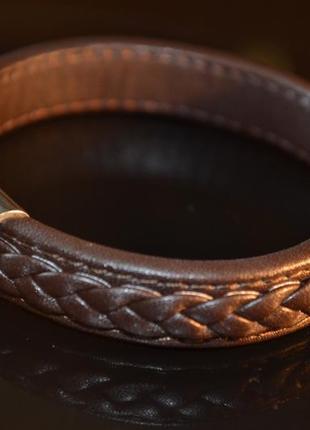 Плетенный браслет кожа animal factory