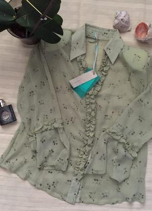 Красивая блуза от imperial крутая блуза с рукавами с воланами красивая легкая блуза