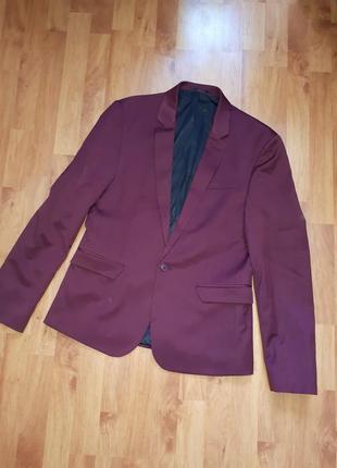 Пиджак тренч кардиган бордо